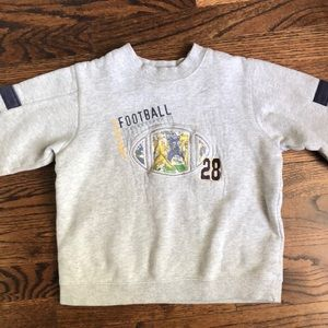 Carter's football sweatshirt